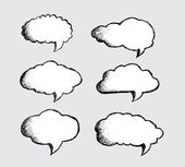 Speech Bubbles Vector — ストックベクタ