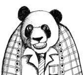 Cartoon animals and panda bear in Jaidee Family Style — Stock Vector
