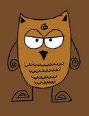 Cartoon animals and owl cartoon in Jaidee Family Style — Stock Vector