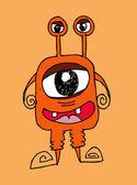 Cartoon cute monsters in Jaidee Family Style — Stock Vector