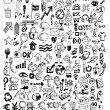 Doodle Icons Hand drawn vector illustration idea — Stock Vector