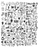 Doodle Icons Hand drawn vector illustration idea — Vector de stock
