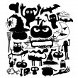 Doodle halloween holiday background — Stock vektor