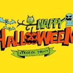 Happy Halloween theme and halloween background pumpkin ghost — Stock Vector #32586617