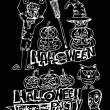 Happy Halloween theme and halloween background pumpkin ghost — Imagen vectorial