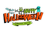 Happy Halloween theme and halloween background pumpkin ghost — Vettoriale Stock