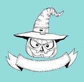 Happy Halloween theme and halloween background pumpkin ghost — Stock Vector