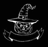 Thème de halloween heureux et fantôme fond citrouille halloween — Vecteur
