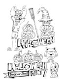 Feliz halloween tema y fantasma de fondo calabaza de halloween — Vector de stock
