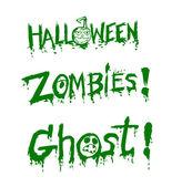 Gelukkig halloween thema en halloween pompoen achtergrond ghost — Stockvector