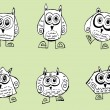 Cute Collection of Owls — Stock Vector