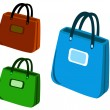 Shopping bag icons — Stock Vector