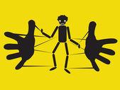String puppet — Stock Vector