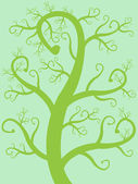Vector trees with leaves — Wektor stockowy