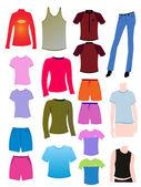 Shirt and t-shirt design templates — Stock Vector