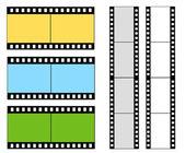 Números de cuenta regresiva de la película. — Vector de stock