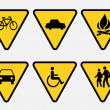 Stock Vector: traffic sign
