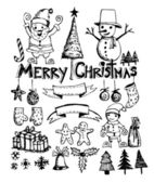 Doodle christmas element — Stock Vector