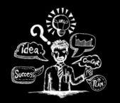 Idea Light bulb vector icon — Stock Vector