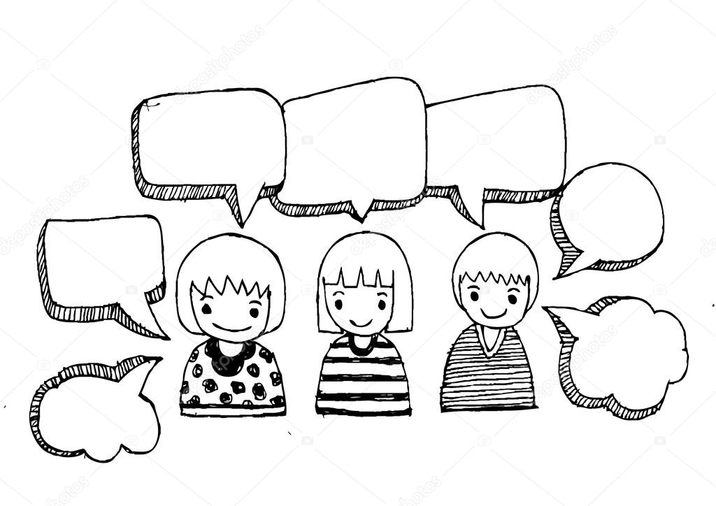 three people dialogues