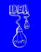 Icono de vector idea bombilla — Vector de stock