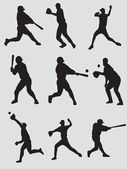 Baseball players — Stok Vektör