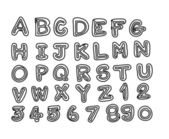 Czcionek szkic rysunek wektor litery — Wektor stockowy