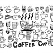 Coffee cup set hand drawing — Stock Vector