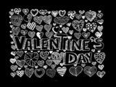 Set van valentine harten — Stockvector