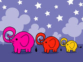 Cute cartoon elephant Vector illustration — Vector de stock