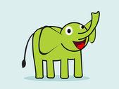 Cute cartoon elephant Vector illustration — Cтоковый вектор