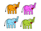 Cute cartoon elephant Vector illustration — Stock Vector