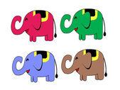 Elefante simpatico cartone animato vettoriale illustrazione — Vettoriale Stock