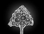 Tree in illustration — Stock Vector