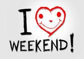 I love weekend — Stockvektor