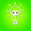 Idea Light bulb vector icon — Stock Vector