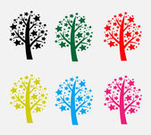 Abstract tree in Vector illustration — Stock Vector