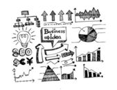 Business doodles idea — Stock Vector