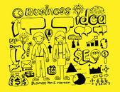 Affaires doodles idée — Vecteur