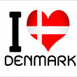 Denmark country flags — Stock Vector