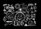 Eco Doodles ECO vector set — Stock Vector