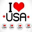 Stock Vector: I Love USA