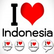 I Love Indonesia — Vettoriali Stock