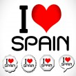 I love Spain — Stock Vector