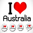 I love Australia — Stock Vector