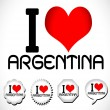 I love argentina — Stock Vector