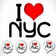 I Love  NYC — Stock Vector