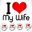 Stock Vector: I love my wife