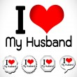 Stock Vector: I Love My Husband