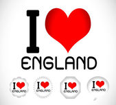 I love England — Vector de stock